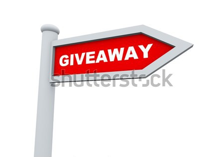 3d giveaway roadsign Stock photo © nasirkhan