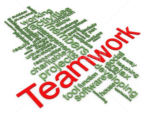 3d Wordcloud of teamwork Stock photo © nasirkhan