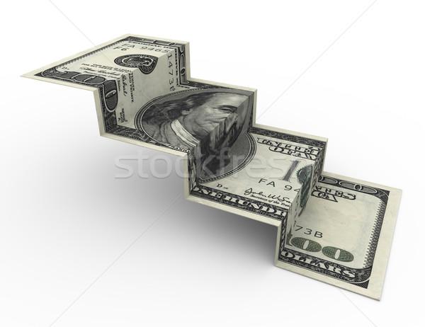100 dollar stair  Stock photo © nasirkhan