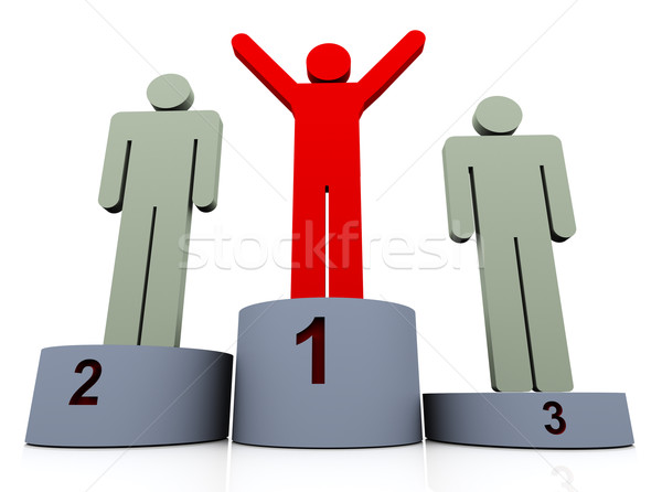 Stock photo: 3d man winner