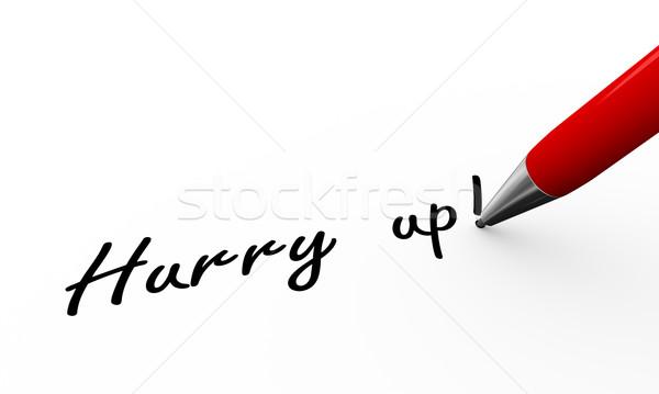 3D caneta escrita obrigado ilustração Foto stock © nasirkhan