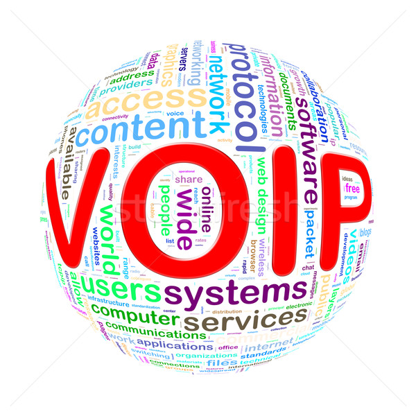 Wordcloud word tags ball of voip Stock photo © nasirkhan