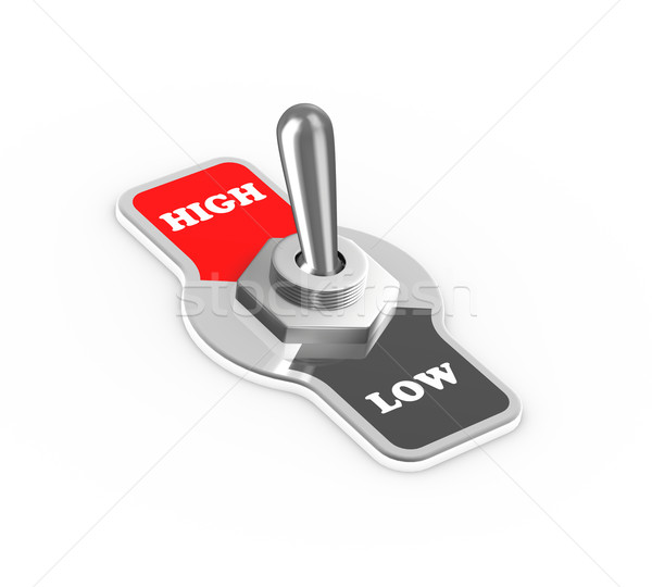 3d low high toggle switch button Stock photo © nasirkhan