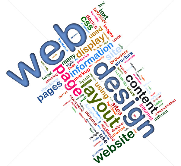 Web design mots web design technologie Photo stock © nasirkhan