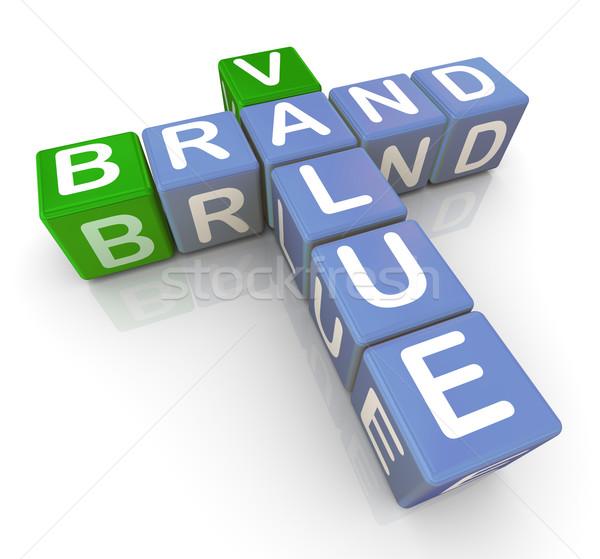 Brand value crossword Stock photo © nasirkhan