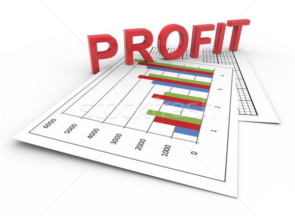 Texto 3d lucro traçar 3d render texto financeiro Foto stock © nasirkhan