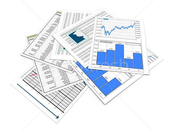 3d financial documents Stock photo © nasirkhan
