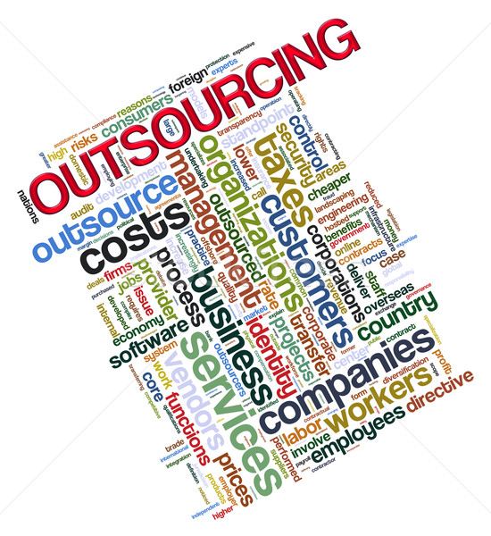 Outsourcing tags Stock photo © nasirkhan