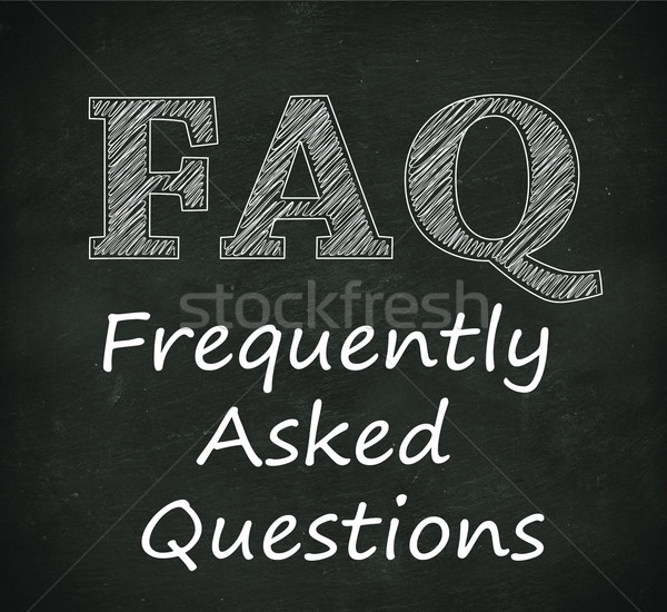 Chalkboard illustration of faq - frequently asked questions Stock photo © nasirkhan