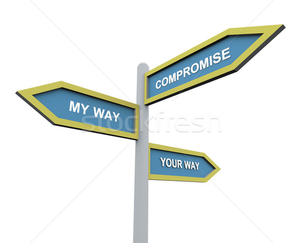 Different way or compromise Stock photo © nasirkhan