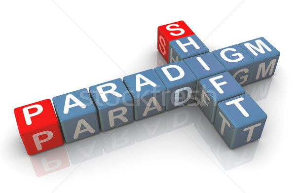 3d buzzword 'paradigm shift' Stock photo © nasirkhan