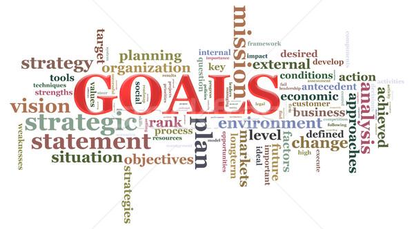 Goals wordcloud Stock photo © nasirkhan
