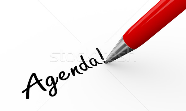 3d pen writing agenda Stock photo © nasirkhan