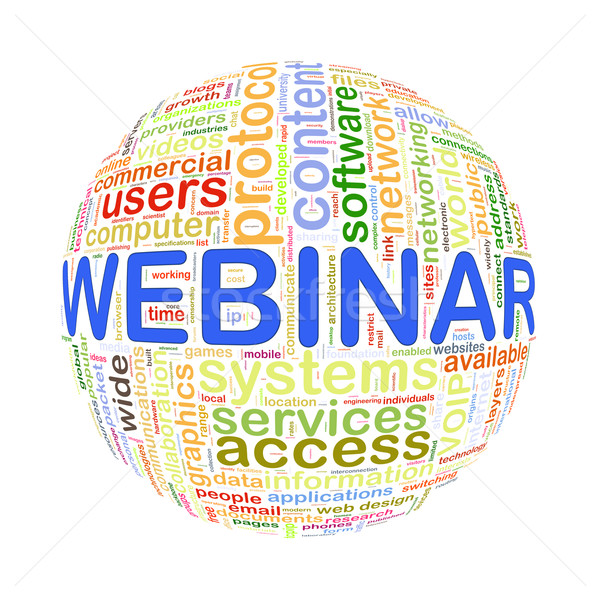 Wort Tags Ball Webinar Illustration Stock foto © nasirkhan