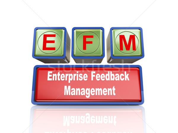 3d boxes of concept of efm Stock photo © nasirkhan