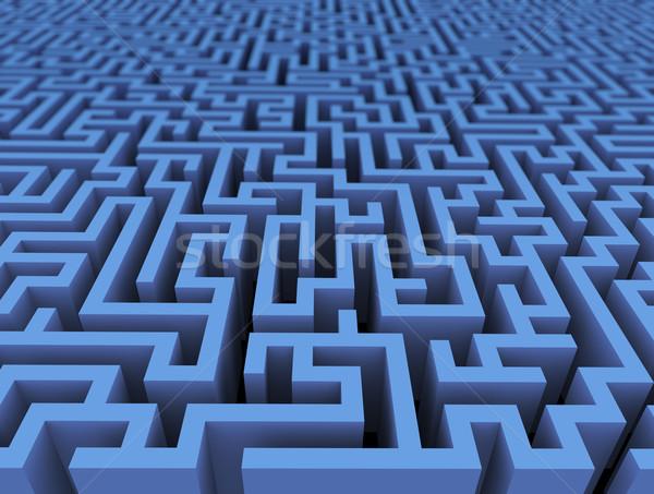 Сток-фото: 3D · лабиринт · лабиринт · вызов · бесконечный