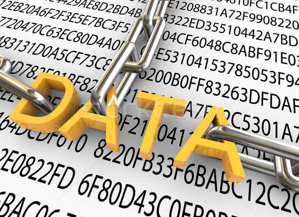 3d concept of data security Stock photo © nasirkhan