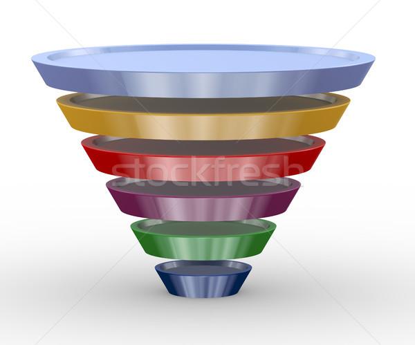 3d funnel structure design Stock photo © nasirkhan