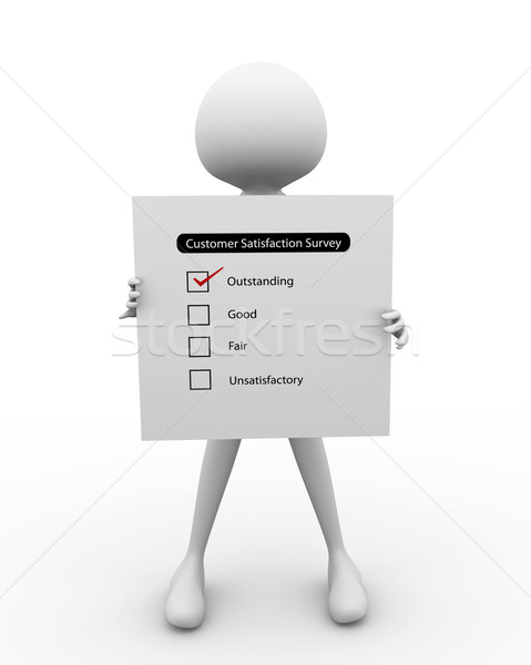 3D man with Survey Report Stock photo © nasirkhan
