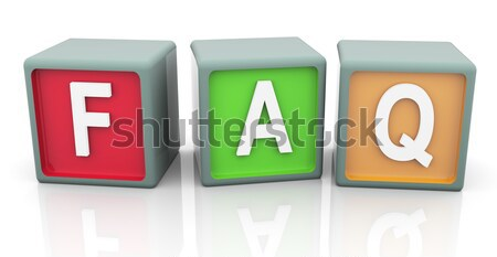 3d question and answer Stock photo © nasirkhan