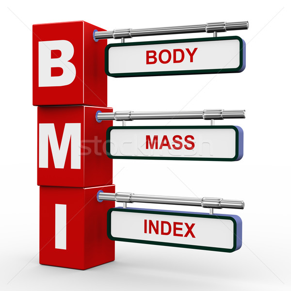 3d modern signboard of bmi  Stock photo © nasirkhan