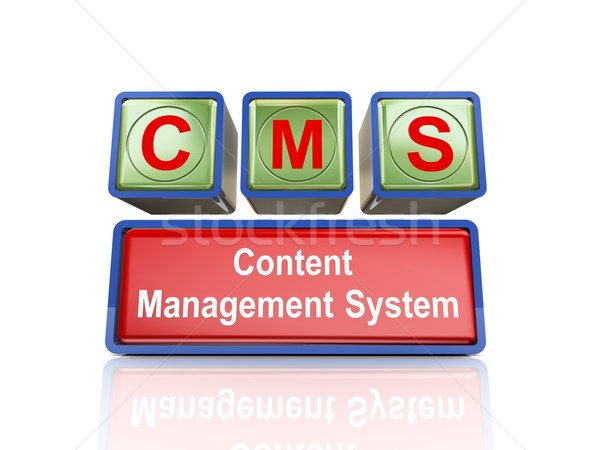 3d boxes of concept of cms Stock photo © nasirkhan