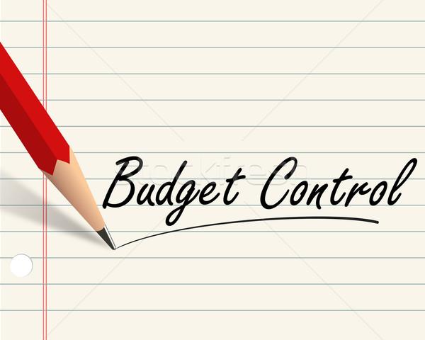 Pencil paper - budget control Stock photo © nasirkhan