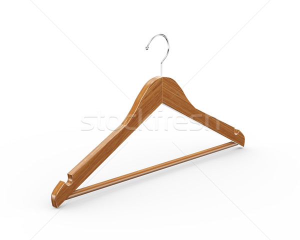 3D houten doek hanger kleerhanger Stockfoto © nasirkhan