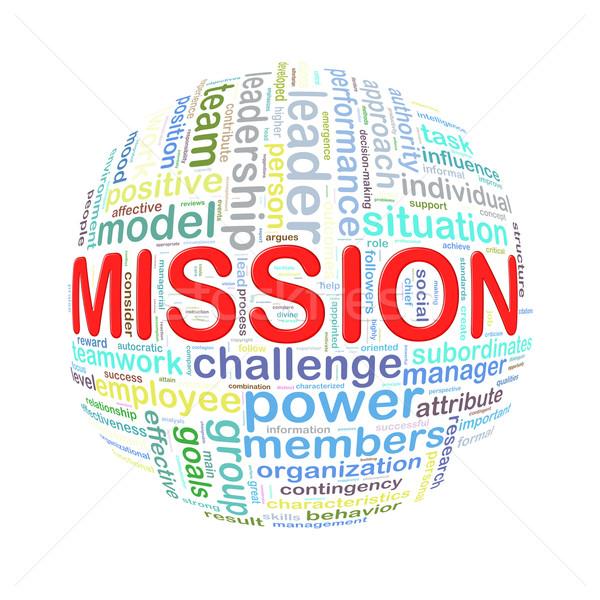 Palavra bola missão ilustração Foto stock © nasirkhan