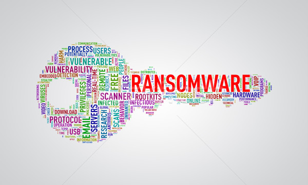 Key shape wordcloud tag ransomware Stock photo © nasirkhan