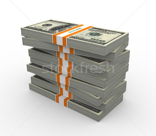 3D dollar tien duizend Stockfoto © nasirkhan