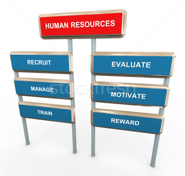 3d human resources Stock photo © nasirkhan
