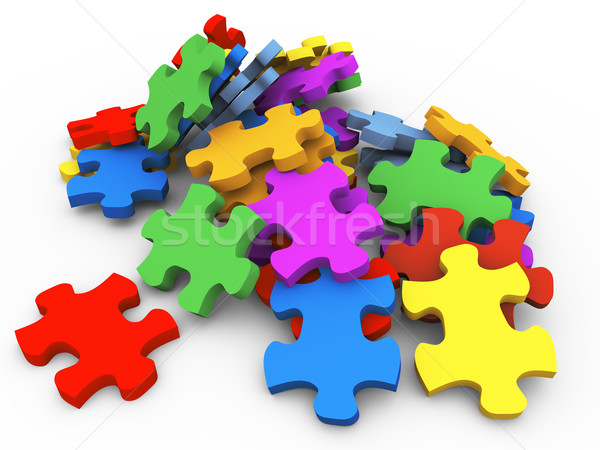 3d puzzle peaces Stock photo © nasirkhan
