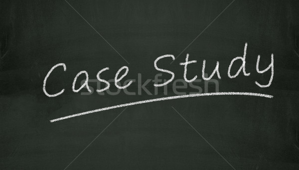 chalkboard case study illustration Stock photo © nasirkhan