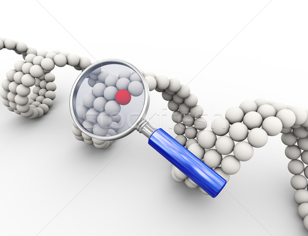 3d magnifier and unique molecular dna element Stock photo © nasirkhan