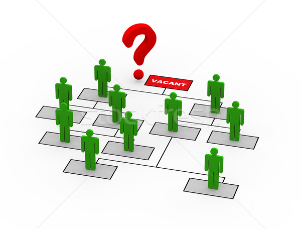 3d question mark ceo vacant position Stock photo © nasirkhan