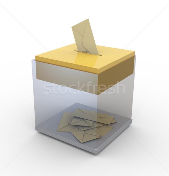 Transparent box with envelopes Stock photo © nasirkhan