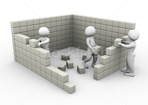 Concept of team work and construction Stock photo © nasirkhan
