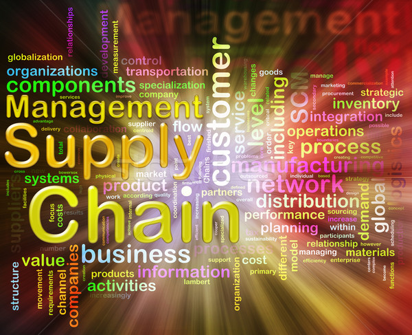 Chain supply management wordcloud Stock photo © nasirkhan