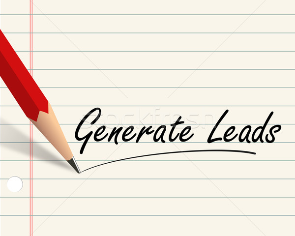 Pencil paper - generate leads Stock photo © nasirkhan
