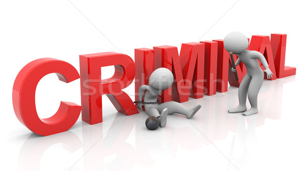 3d tied criminal investigation Stock photo © nasirkhan