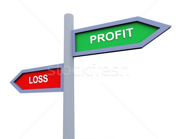 Profit and loss Stock photo © nasirkhan