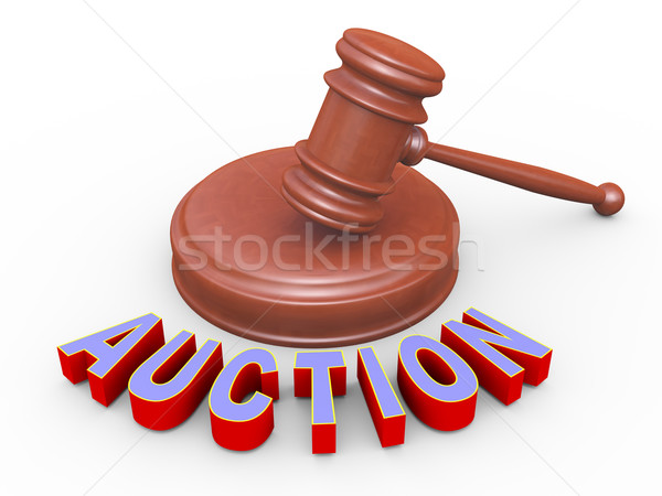 3d gavel and auction Stock photo © nasirkhan