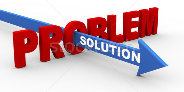 3d problem and solution Stock photo © nasirkhan