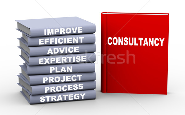 3d consultancy concept books Stock photo © nasirkhan