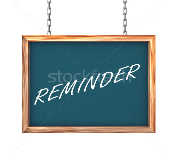 3d hanging banner - reminder Stock photo © nasirkhan