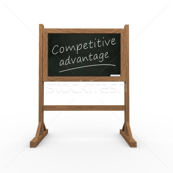 3d black chalkboard competitive advantage Stock photo © nasirkhan