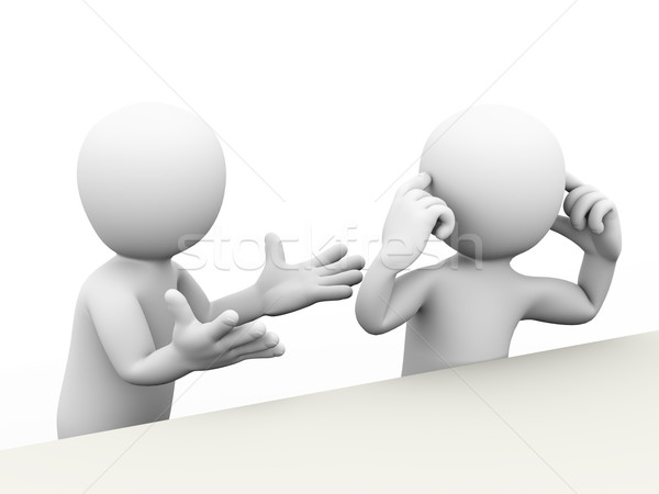 3d couple dispute Stock photo © nasirkhan