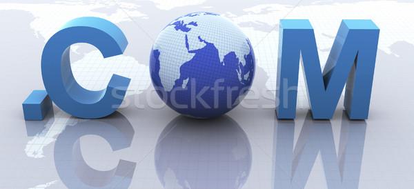 Texto 3d 3d render texto computador mundo tecnologia Foto stock © nasirkhan