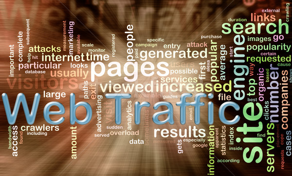 wordcloud of web traffic Stock photo © nasirkhan